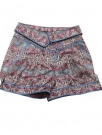 SHORT BROCADO RASO ROSA